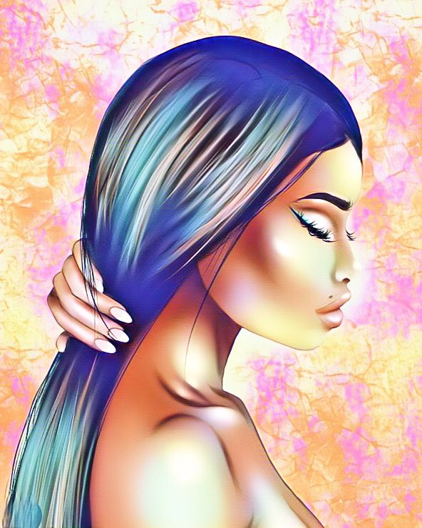 🌈 #colorfull #art #artist #artisticportrait #draw #drawing #papper #illustration #dessin #girl #woman #profil #model #avatar #imvu #like #photography