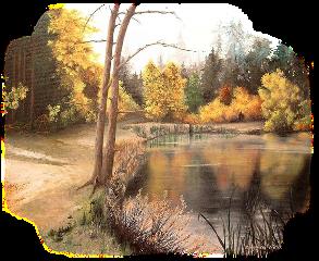 landscape autumn tube trees lake freetoedit