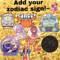 freetoedit leo zodiacsign zodiac ramen