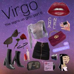 freetoedit virgo zodiac girl star