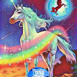 freetoedit unicorn unicornio arcoiris rainbow