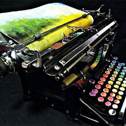 freetoedit typewriter colorful retro remixit
