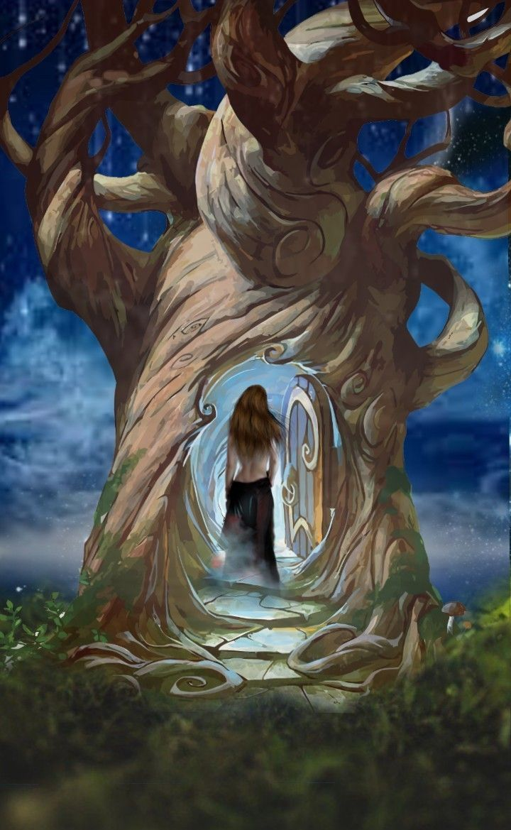 #doubleexposure #doubleexpesure #treehouse #tree #womaninblack #womantree #surrealism #fantasyart #allpicsart