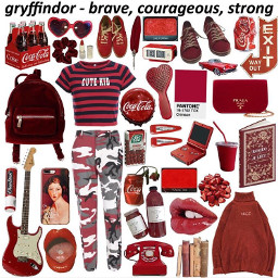 red harrypotter gryffindor aesthetic tumblr