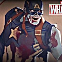 whatif marvelzombies captainamerica zombie marvel freetoedit