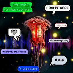 freetoedit jellyfish communication telephone connection ircredjellyfish