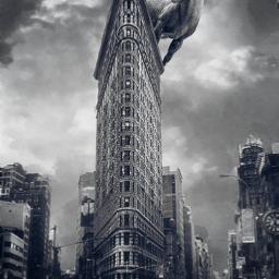 capricorn giantanimals newyorkcity flatiron skyscraper freetoedit