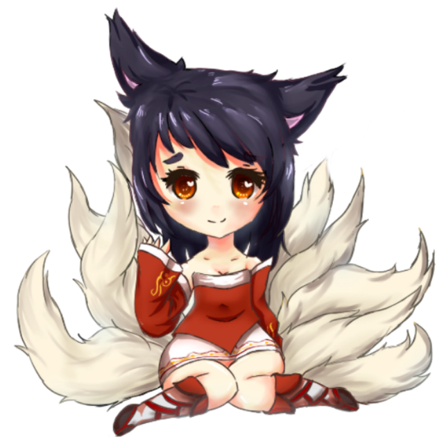 #ahri #lol #leagueoflegends #kitsune #girl #anime #kawaii #chibi #cute #videogame #riotgames