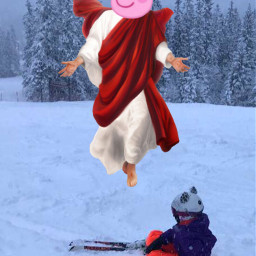 peppapig peppapigmemes peppa pig jesus freetoedit