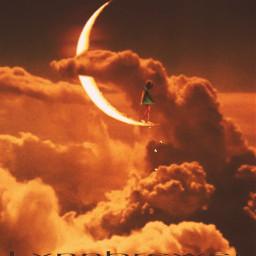 freetoedit lynnbrewer madewithpicsart moon clouds