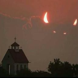 softaesthetic devil church clouds grunge