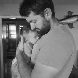 halfface dad baby unedited photography pchalffaced