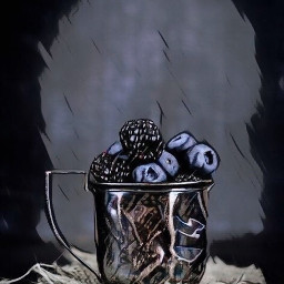 freetoedit blueberries blackberries cup stilllife