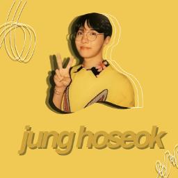 freetoedit junghoseok yellow bright hobi