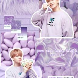 got7 got7youngjae youngjae purple lavender