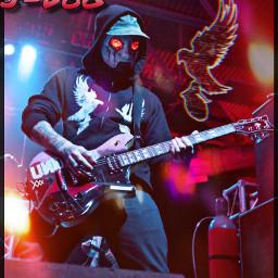 jdog hollywoodundead joreldecker concert guitar