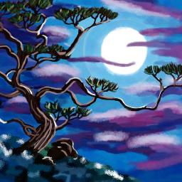 mydrawing mypainting myart mywork tree dcnightforest nightforest