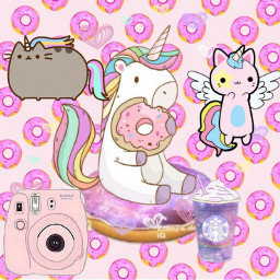 freetoedit unicorn kawaii donuts