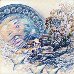 fantasy landscape river freetoedit