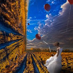 freetoedit landscape drawingtool surreal balloons