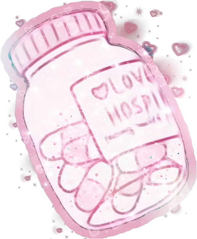 #pastel #pills #medicine #doctor #love #sick #lovesick #inlove #pink #kawaii #heart #bottle #cute