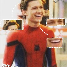 tomholland tomhollandisperfect cutie adorable spiderman freetoedit