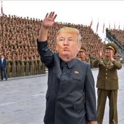 freetoedit donaldtrump trump kimjongun wtf