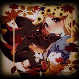 freetoedit shadowthehedgehog shadow mariarobotnik maria srcautumnframe autumnframe