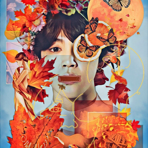 #freetoedit,#collage,#autumn,#btsjimin,#btsedit,#srcautumnframe