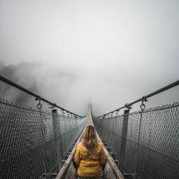 fog sky girl girls people freetoedit