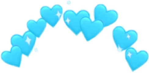 венок heart blue smile freetoedit