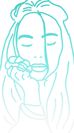 drawing billieeilish freetoedit dcoutlineart outlineart