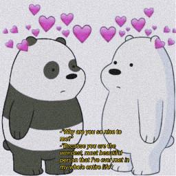 freetoedit webearbears panda whitebear quote