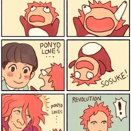 ponyo meme memes anime sosuke