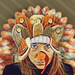 disguise turkey woman madewithpicsart freetoedit fcthanksgiving thanksgiving