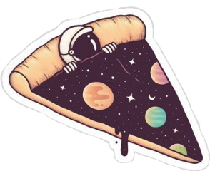 pizza galaxy sticker aestethic vsco freetoedit