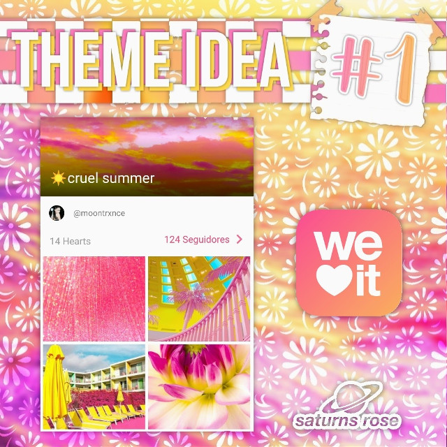 hii💛here is a theme idea for y'all, I hope it helps, see next post for an edit idea ≋☀️≋ find it on We Heart It ≋🌺≋theme: cruel summer   ❀ 𝓶𝓪𝓲𝓷 𝓪𝓬𝓬𝓸𝓾𝓷𝓽 ❀ @moontrance  ❀𝓱𝓪𝓼𝓱𝓽𝓪𝓰𝓼❀ #theme #themes #editingneeds #editinghelp   *•.¸♡ ᵗʰᵃⁿᵏˢ ᶠᵒʳ ʳᵉᵃᵈⁱⁿᵍ ♡¸.•*