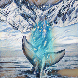 montain whale ocean freetoedit