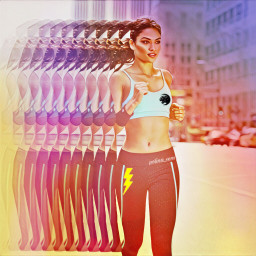 freetoedit runner running girl beauty