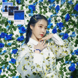 freetoedit iu blue kpop ecaesthetic aesthetic