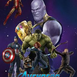 avengers thanos hulk ironman captainamerica freetoedit
