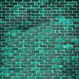 wall colourful green bricks freetoedit