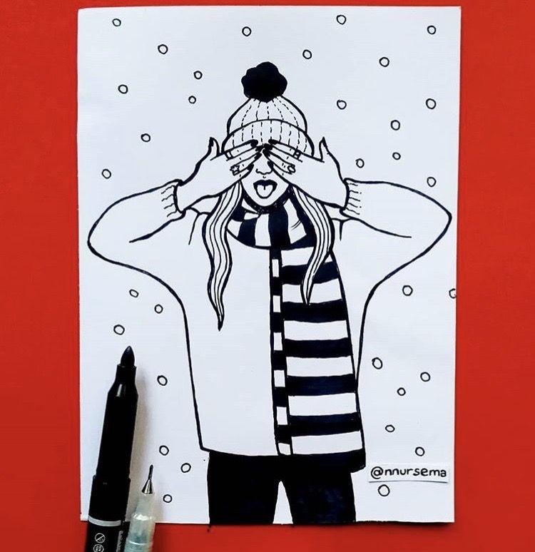 #drawings #pencil #artwork #art #draw #instagram #images #freetoedit #edits #tumblr #snow #winter