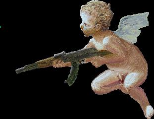 freetoedit angel gun painting aesthetic