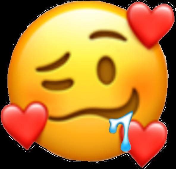 #emoji #drooling #hearts #drool #pleasing #pleased #freetoedit #blush #freetoedit