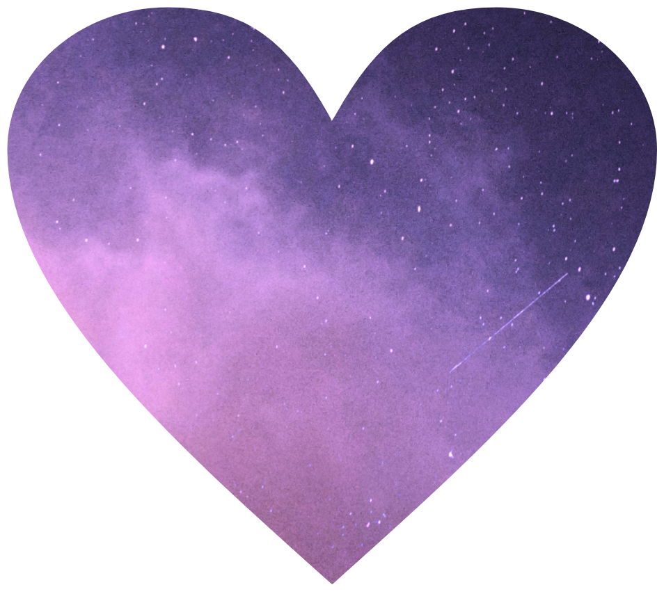 #coração #roxo #galaxy
