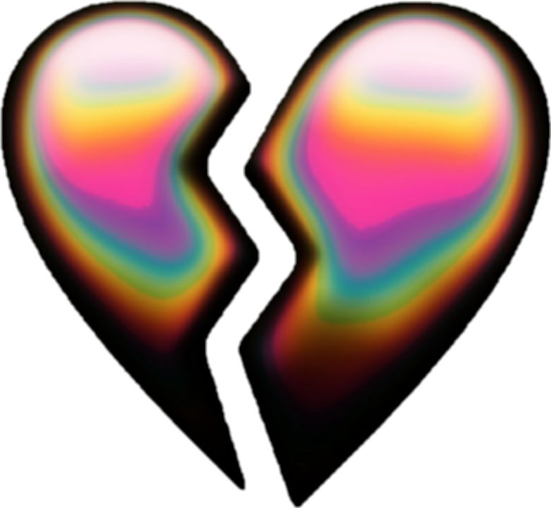 #broken #brokenheart #aesthetic #emoji #aestheticemoji #tumblr #tumblremoji #gasolinacolor