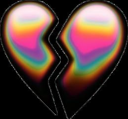 broken brokenheart aesthetic emoji aestheticemoji freetoedit