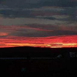 sky love red skyline