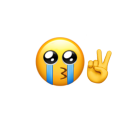 emoji sticker cryingemoji mood vibecheck freetoedit